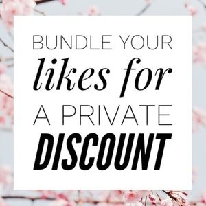 Bundle your likes for a private discount ❤️